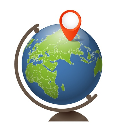 Earth globe on a support Stock Vector - 16437610