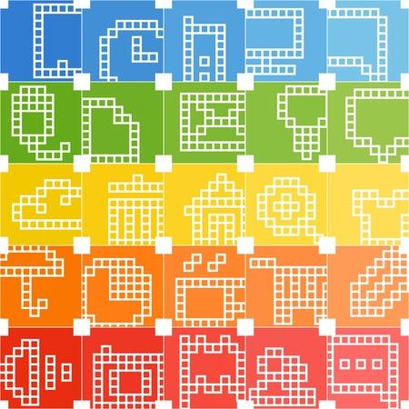 Modern social media color interface icons Stock Vector - 16437600