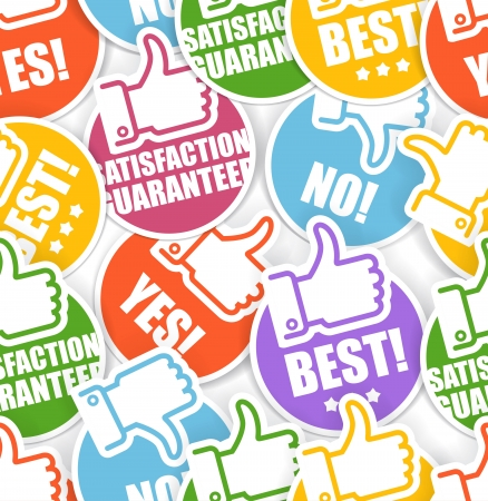 Approval paper stickers seamless background Illustration