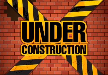 Under construction site template  Stock Vector - 16533786