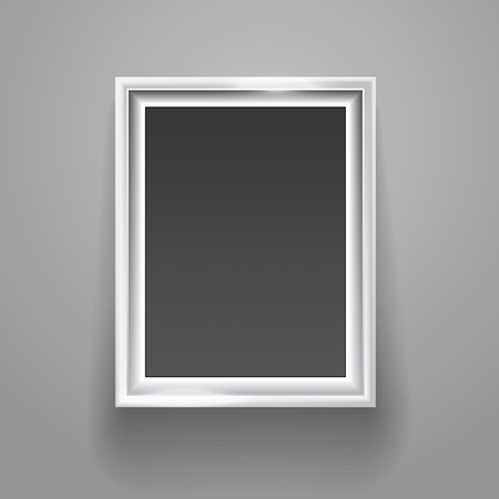 photo album page: Empty picture frame on the wall template