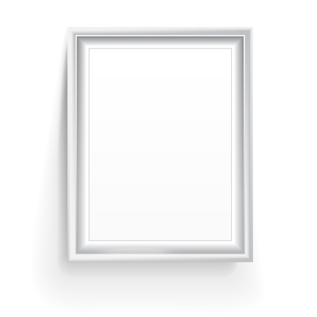 realictic: Empty picture frame isolated on white