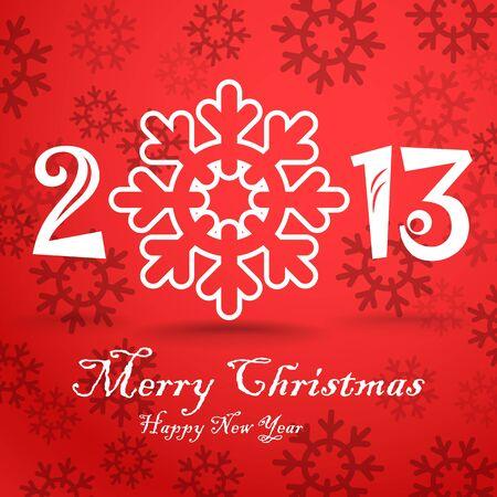 Christmas greeting card template Stock Vector - 16885311
