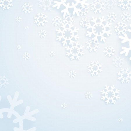 Winter abstract bright background  Template for a text Stock Vector - 16885319