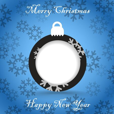 Christmas greeting card template  Ready for a text Stock Vector - 16885310