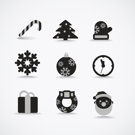 Christmas silhouettes vector collection Vector