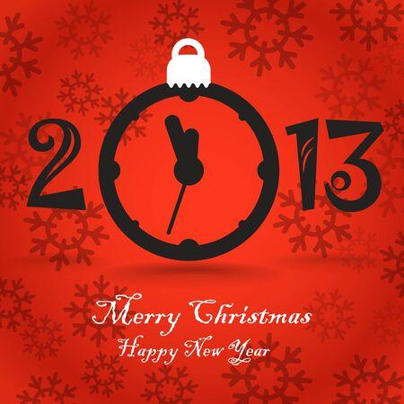 Christmas greeting card template Stock Vector - 16885312