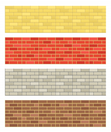 Different color brick textures collection Stock Vector - 17891479