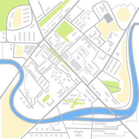 route map: Abstract city map illustration
