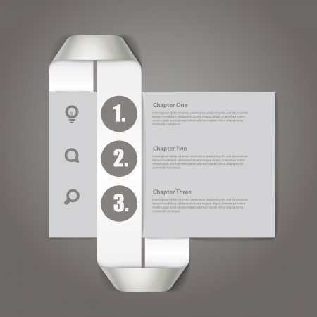 Website paper page design template Vector