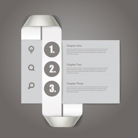 chapter: Website paper page design template Illustration