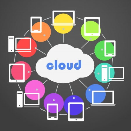 Abstract color scheme cloud technology Vector
