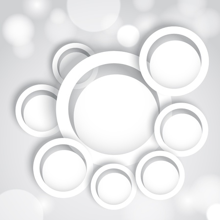 Abstract background with white circles Stock Vector - 18089704