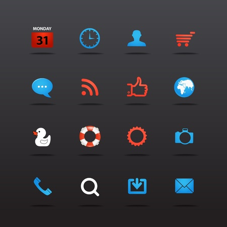 programm: Web interface icons collection