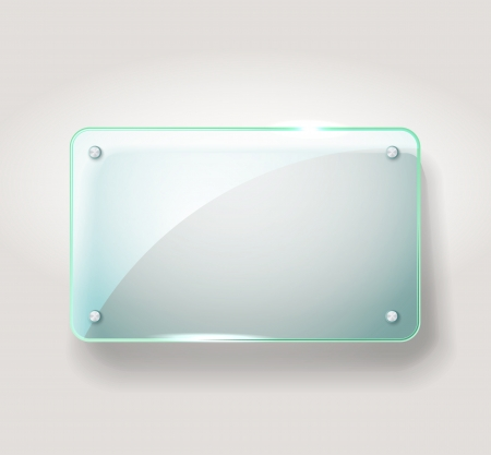 display stand: Glass advertising board  Template for a text