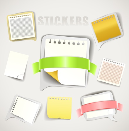 Paper stickers with ribbons collection Stock Vector - 18089694