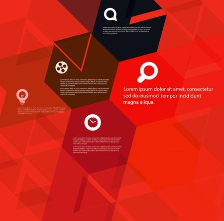 Abstract geometric design template Illustration