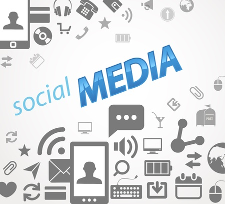 data collection: Social media abstract icons