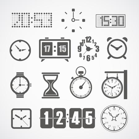 時計イラスト コレクションの異なった様式