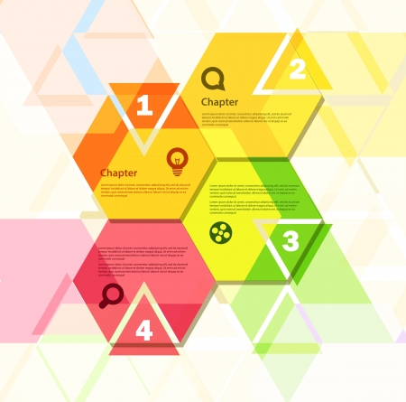 polygons: Template for a text Illustration