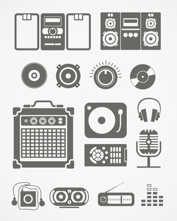 Audio equipment icons collection Stock Vector - 18519149