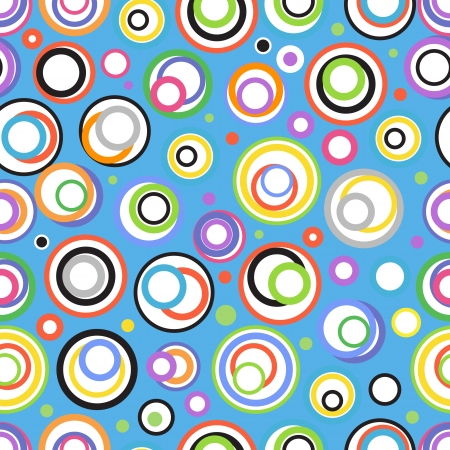 Abstract seamless background of color circles Stock Vector - 18519113