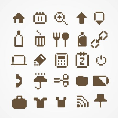 Pixel web icons collection   Stock Vector - 18675652
