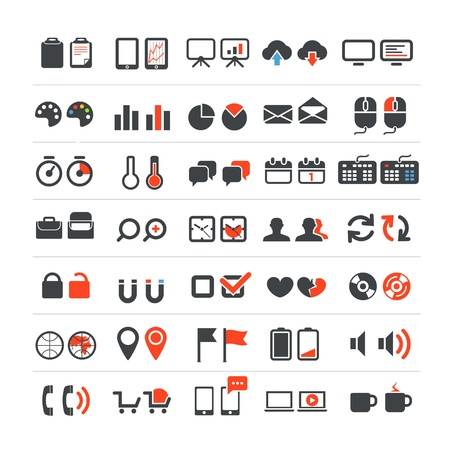 Web and business icons collection Stock Vector - 18847829