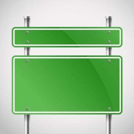 本文空白緑金属板テンプレート  イラスト・ベクター素材
