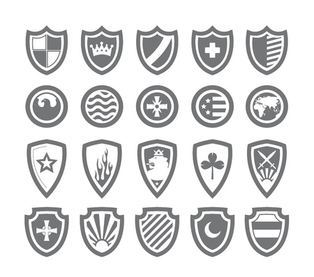 Abstract victorian arms on shields Stock Vector - 19377075