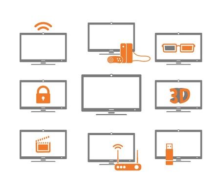 remote lock: Recogida TV aislado en blanco