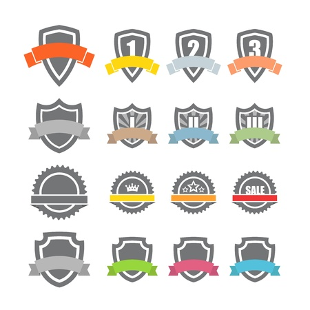 Collection of labels. Template for a text Stock Vector - 19581568