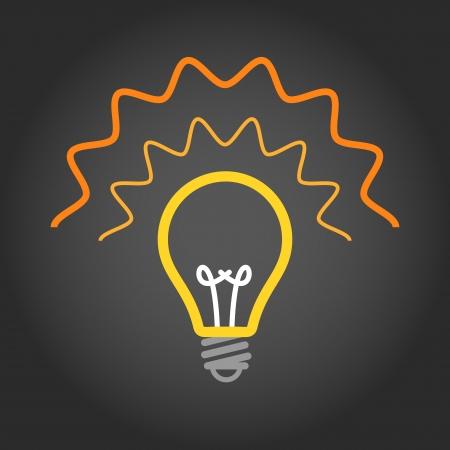 socle: Lighting light bulb on dark background Illustration