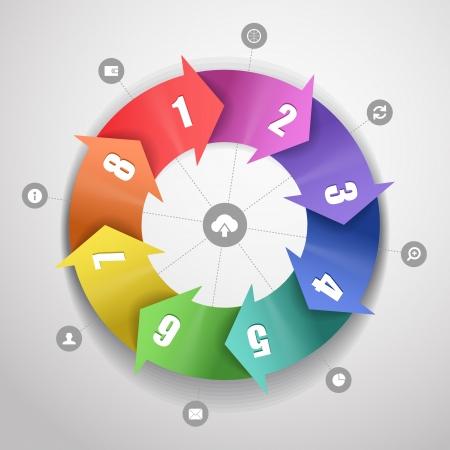 interface scheme: Infographic modern color scheme template Illustration