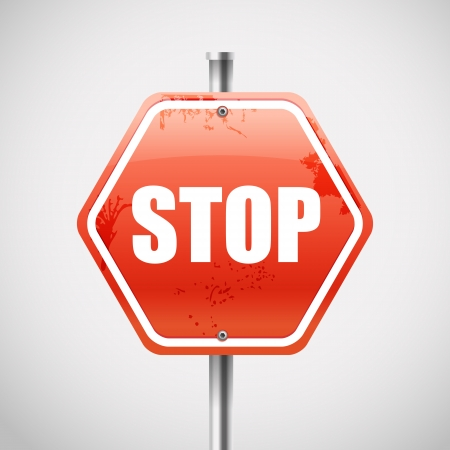 Stop road sign Stock Vector - 19750015