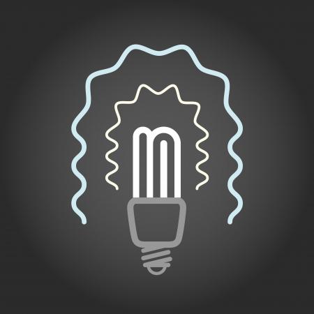 socle: Lighting energy save lamp on dark background