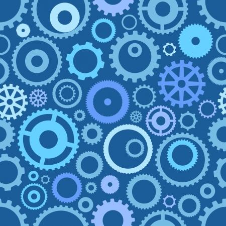 シームレス パターンまたは別のギヤ車輪  イラスト・ベクター素材