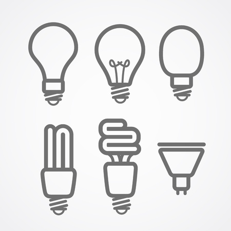 halogen: Light lamps icon collection