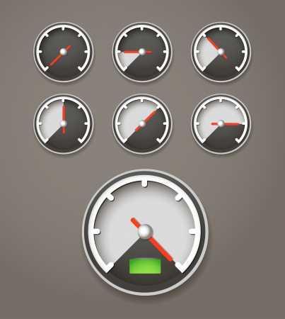 limit: Speed limit web icons collection