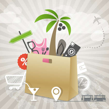 Travel illustration  Season discount tour Stock Vector - 20990411