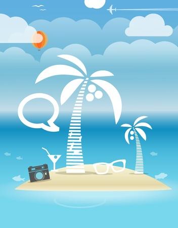Summer seaside vacation illustration Stock Vector - 21599898