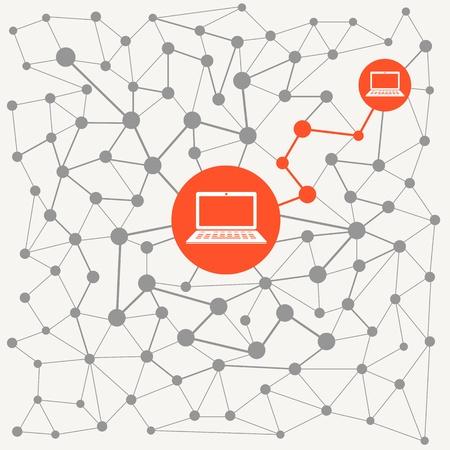 computer network: Abstract scheme of modern computer network