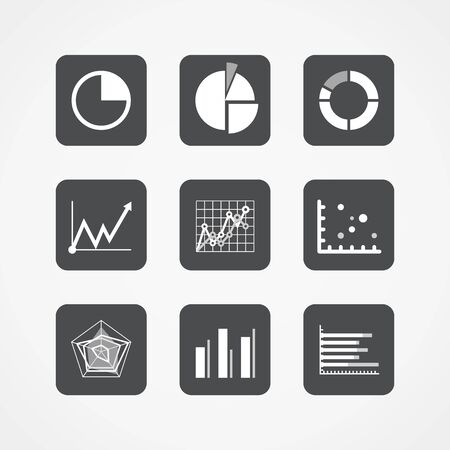 informer: Information chart icons collection