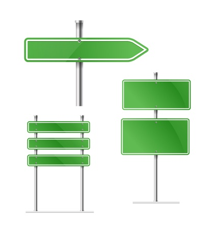 blank road sign: Template for a text Illustration