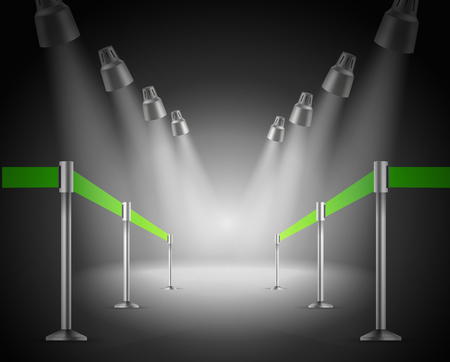 shined: The shined green way entrance  Vector illustration Illustration
