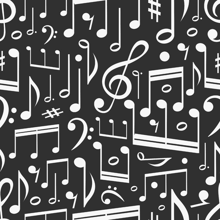 Seamless background of music notes Stock Vector - 22305171
