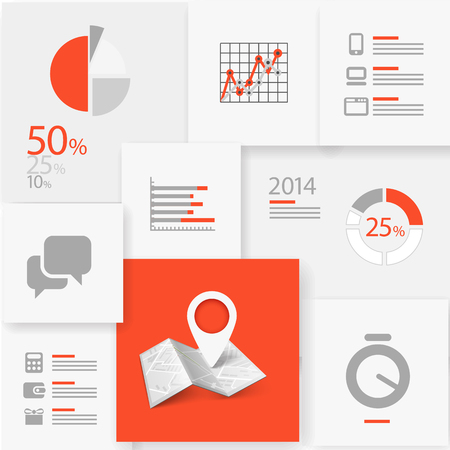 stock trend: Infographic information board design template