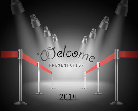 photoreal: Presentation vector template Illustration