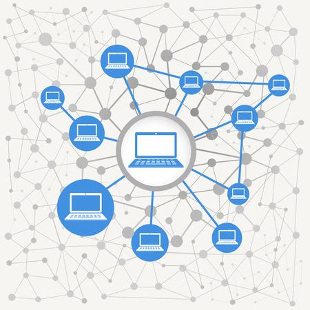 red informatica: Resumen esquema de la moderna red informática Vectores