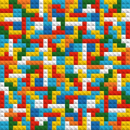 Abstract seamless background of color blocks